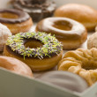Selection Of Doughnuts In A Tray — Stock Photo