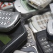 Pile Of Used Mobile Phones — Stock Photo #4778019
