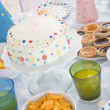 Royalty-Free Stock Photo: Birthday party table setting with food