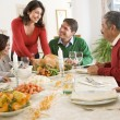 Family All Together At Christmas Dinner — Zdjęcie stockowe #4778347
