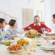 Family All Together At Christmas Dinner — Stock Photo #4778357