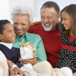 Family Portrait At Christmas — Stock Photo