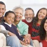 Family Portrait At Christmas — Stock Photo
