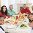 Family All Together At Christmas Dinner — Stock Photo
