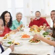 Family All Together At Christmas Dinner — Stock Photo #4778419