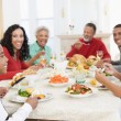 Family All Together At Christmas Dinner — Stock Photo #4778421