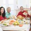 Family All Together At Christmas Dinner — Stock Photo #4778423