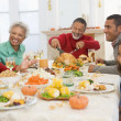 Family All Together At Christmas Dinner — Stock Photo #4778428