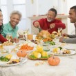 Family All Together At Christmas Dinner — Stock Photo #4778430