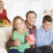 Portrait Of Family At Christmas — Stock Photo #4778454