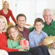 Portrait Of Family At Christmas — Stock Photo #4778459