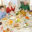 Family All Together At Christmas Dinner — Stock Photo #4778466