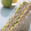 Prawn Marie Rose And Salad Sandwich On Granary Bread With An App — Stock Photo #4778573