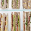 Selection Of Take Away Sandwiches In Plastic Triangles - Stock Photo
