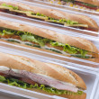 Selection Of Baguettes In Plastic Packaging — Stock Photo
