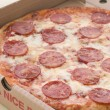 Stock Photo: Pepperoni PizzIn Take Away Box
