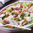 Chicken And Bacon Caeser Salad - Stock Photo