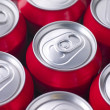 Red Cola Cans - Stock Photo