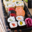 Stock Photo: Take Away Sushi Tray