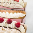 Stock Photo: Creamed Meringue And Chocolate Eclair