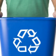 Man Holding Recycling Bin — Stock Photo #4778869