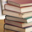 Stack Of Books On Table — Stock Photo
