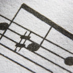 Close-up muzieknoten — Stockfoto