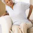 Woman With Back Pain — Stock Photo