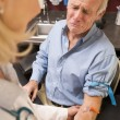 Middle Aged Man Having Blood Test Done — Stock Photo
