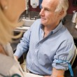 Middle Aged Man Having Blood Test Done - Stockfoto