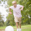 Young boy playing soccer — Stock Photo #4779995
