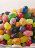 Bowl Of Coloured Jellybeans — Stock Photo