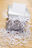 An Overflowing Paper Shredder — Stock Photo