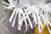 Close-Up Of An Overflowing Paper Shredder — Stock Photo
