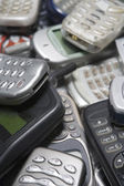 Pile Of Used Mobile Phones — Stock Photo