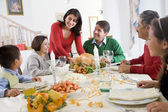 Family All Together At Christmas Dinner — Stockfoto