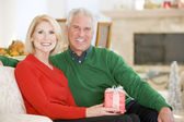 Mature Couple At Christmas — Stock Photo