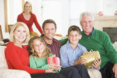 Portrait Of Family At Christmas — Stockfoto