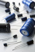 Capacitors And Resistors — Stock Photo