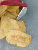 Bag Of Salted Crisps — Stock Photo