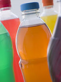 Selection Of Fizzy Drink Bottles — Stock Photo