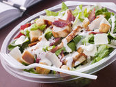 Chicken And Bacon Caeser Salad — Stock Photo
