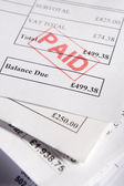 Paid Invoices — Stock Photo