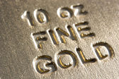 Close-Up Of Gold Bar — Stock Photo