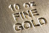 Close-Up Of Gold Bar — Stock Photo