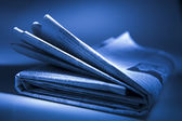 Folded Newspaper — Stock Photo