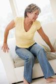 Woman Suffering With Back Pain — Stock Photo