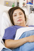 Patient Lying In Hospital Bed — Stock Photo