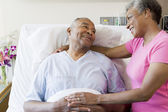 Senior Couple In Hospital Room — Stock Photo
