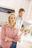 Karı koca bulaşıkları — Stok fotoğraf